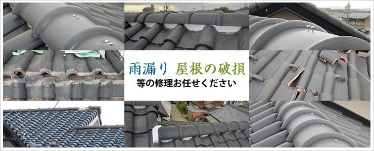 雨漏り、屋根の破損等の修理お任せください