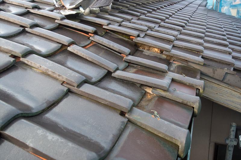 屋根の陥没