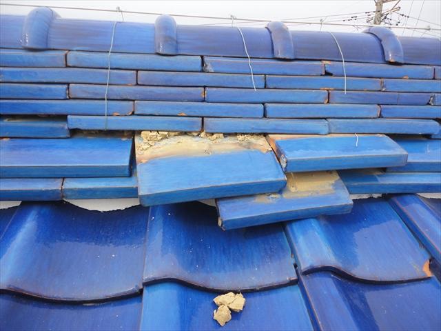 棟部の破損